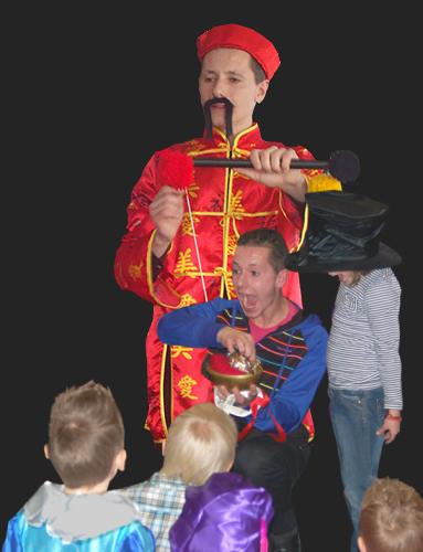 Kinderen-goochelaar